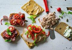 Ernährung bei ADHS: Pizzabrötchen, Putensandwich & Thunfischbrot