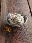 Goat's cream cheese with dried tomatoes