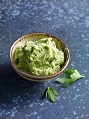 Green smoked eel cream spread