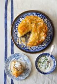 Pastilla with duck and dates, Morocco