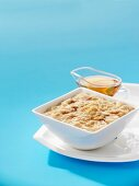 Porridge with maple syrup and brown sugar