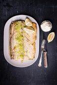 Baked yellowtail with lemon salt and aioli