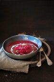 Borschtsch (beetroot soup)