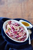 Fennel and red cabbage coleslaw