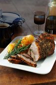 Roast beef with rosemary and a pepper crust