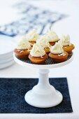 Caramel cakes with white chocolate ganache