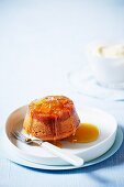 Upside-down pudding with caramelised ginger