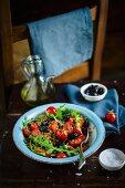 Insalata con il farro (mixed salad with spelt, Italy)