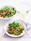 Roast carrot and chicken salad
