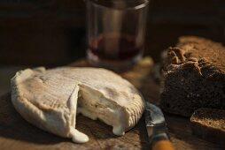 Paglierina (Italian soft cheese) and bread
