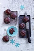 Chocolate gingerbread with pink pepper