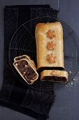 Fruit bread wrapped in yeast dough