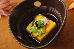 Pumpkin tofu from Japan