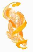 Orange wedges and orange peel