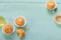 Muffins made with mandarins and orange blossom water
