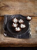 Homemade confectionery: coffee and nougat pots