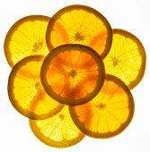 Back lit orange slices