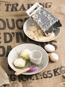 Ingredients for potato cakes
