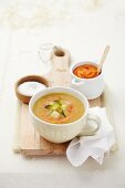 Vegetable soup with potatoes and tomato (Teneriffe)