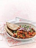 Kidneybohnen mit Paprika und Zwiebeln