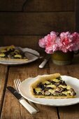 Mushroom tart with cheese