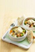 Fish and risoni soup