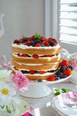 Berry torte for special occasion