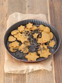 Gingerbread biscuits with cutters