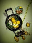 Gedämpfte Rosmarinkartoffeln mit Algenbutter