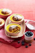 Pear & Blueberry muffin puddings