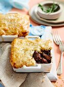 Beef pies with cheese pastry