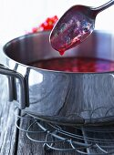 Redcurrants being stewed