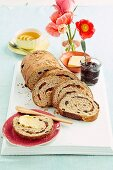 Muesli fruit bread