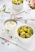 Crespelle with spinach and ricotta