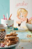 Shortbread biscuits and hot chocolate
