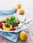 Fruity salad with rocket