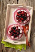 Two berry tartlets