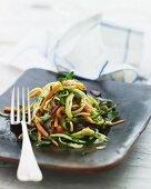 A vegetable strip salad