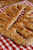 Fougasse with bacon and walnuts