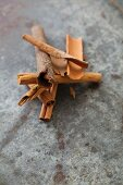 Four types of cinnamon sticks