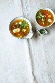 Thai tomato soup with silken tofu