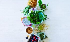 Ingredients for green smoothies