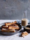 Allumettes with cafe au lait anglaise