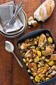Lemon thyme roasted chicken with autumn veg