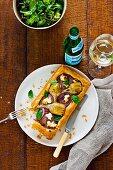 Artichoke, ricotta and onion tarts