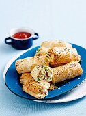 Bacon and Pea Sausage rolls