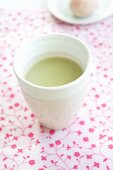 A cup of matcha tea