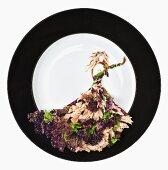 Fashion Food: Thunfischsalat mit Rucola, Lollo Rosso und Oliven
