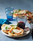 Mini Margarita pizzas