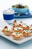 Salmon pastries with spinach